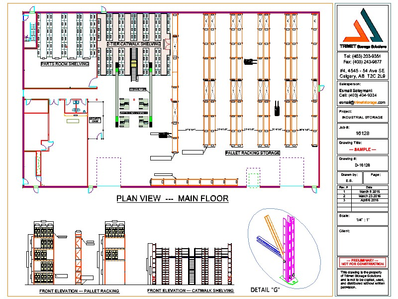 Auto cad drawings design layout trimet for Draw layout warehouse