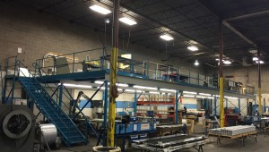 steel structural mezzanine converted