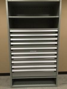 drawer in shelving